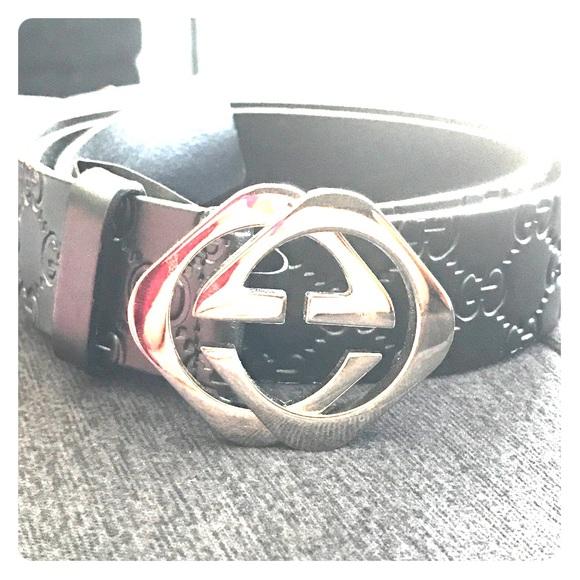3b9a48ecd05 Gucci Accessories - Gucci unisex monogram leather belt